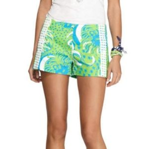 Lilly Pulitzer Liza Shorts Roar Of The Jungle Sz00